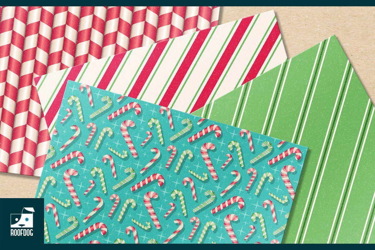 Candy cane stripe digital paper , AFFILIATE, retro