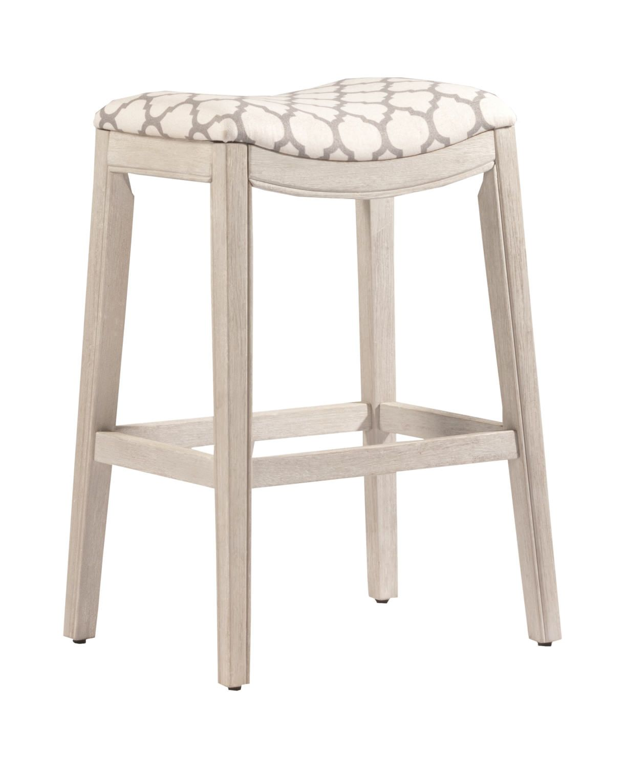 Sorella White Saddle Seat Stool Hom Furniture Hillsdale Furniture Backless Stools Counter Height Stools