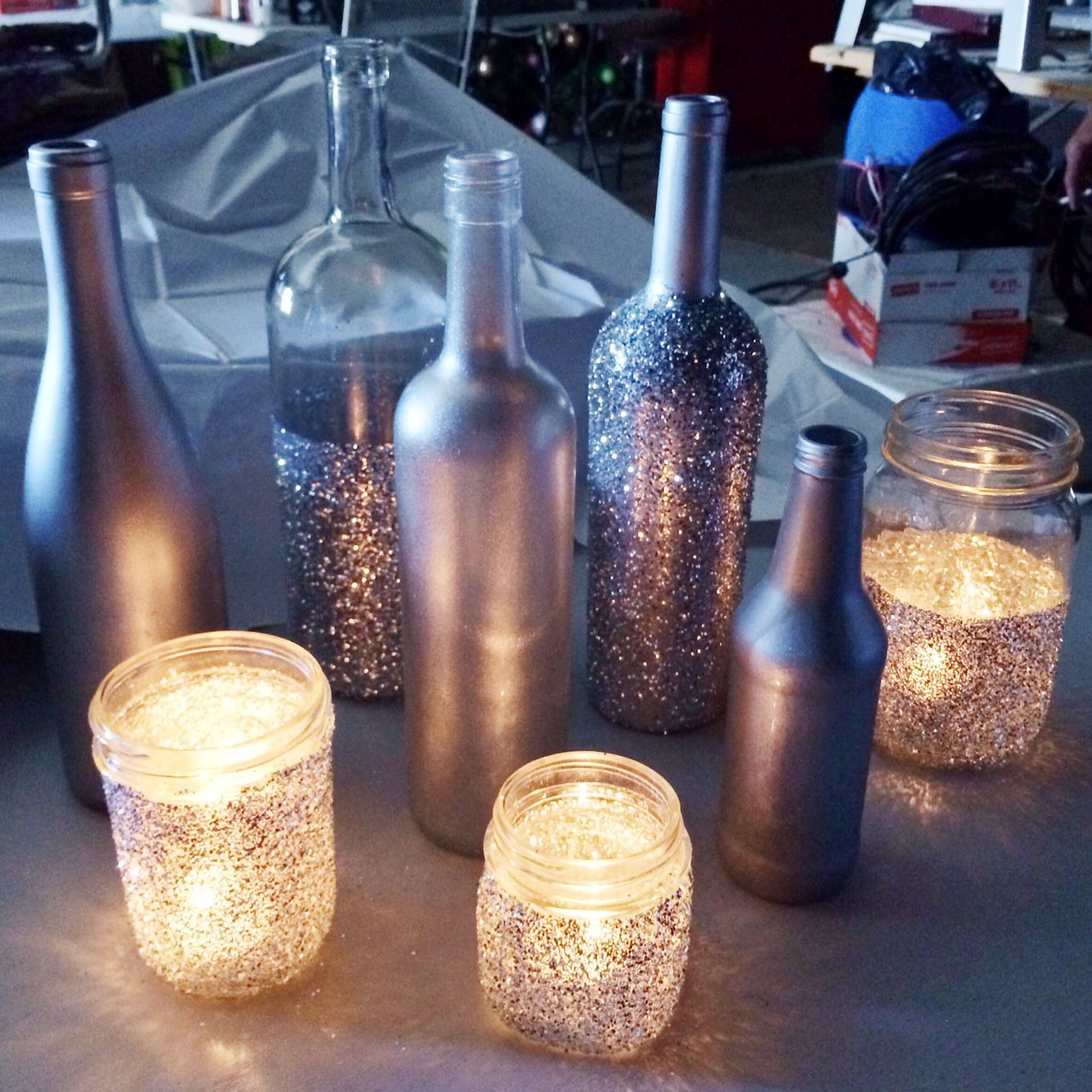 Love lenore wedding centerpiece diy craft ideas for Diy bottles and jars