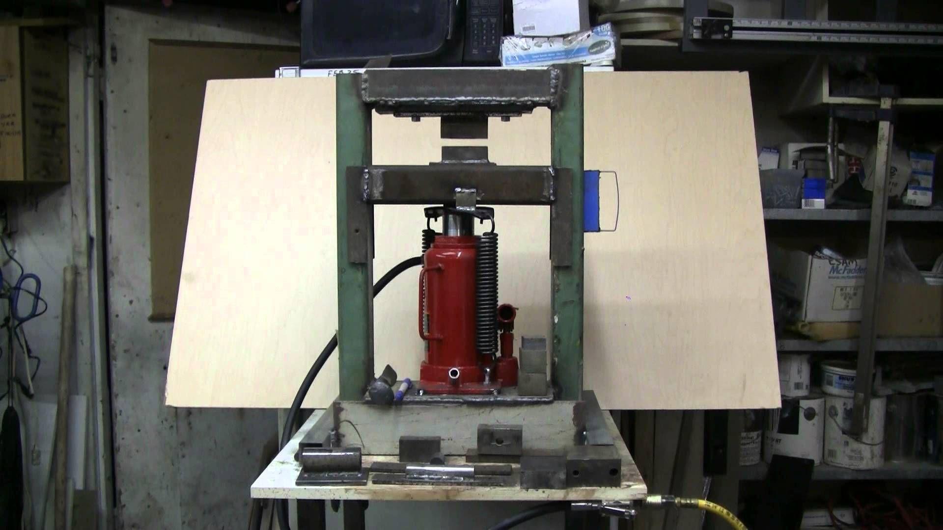 Do It Yourself 20 Ton Hydraulic Press YouTube