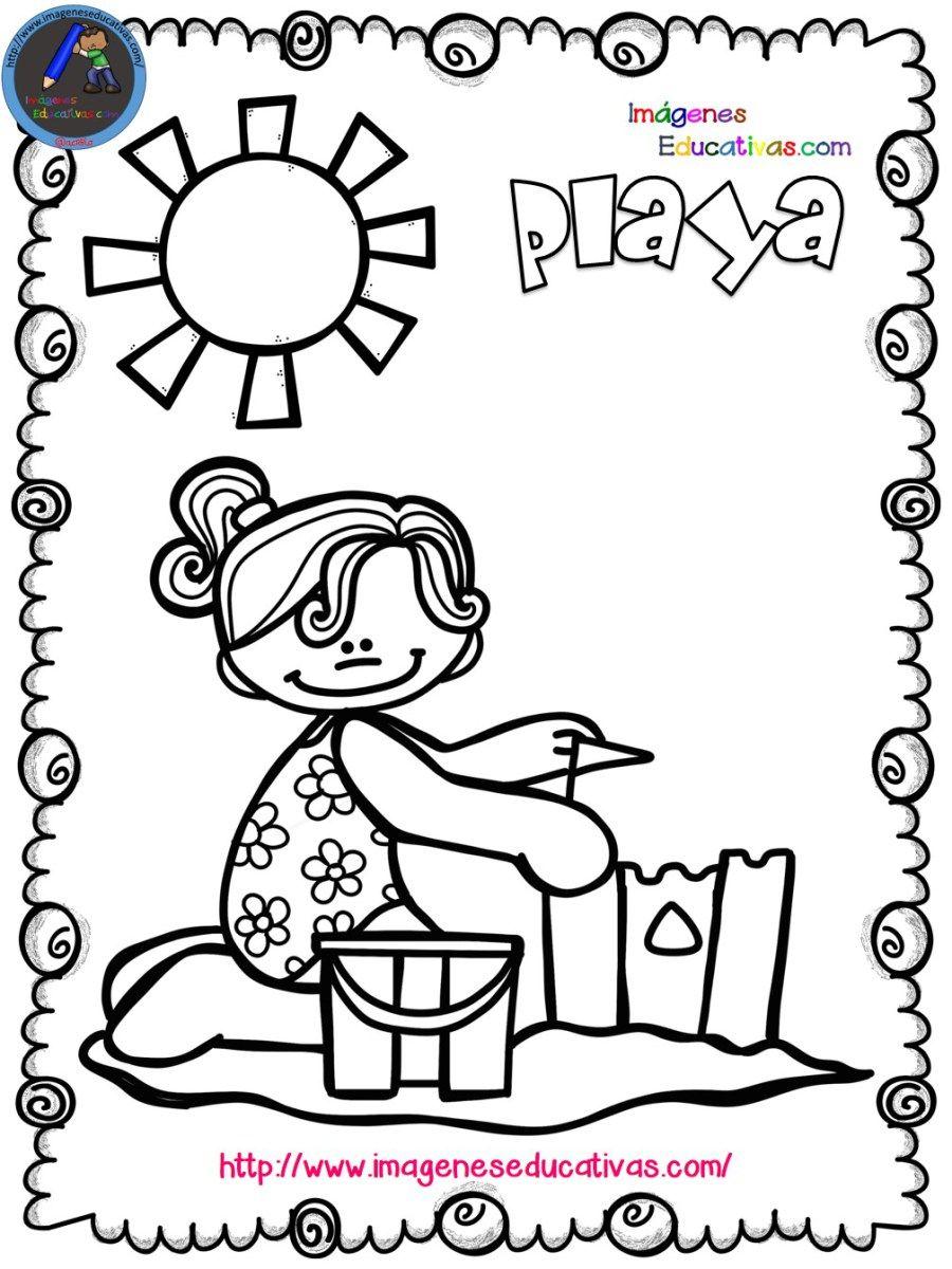 Mi libro para colorear en verano | Libros para colorear, Diversión y ...
