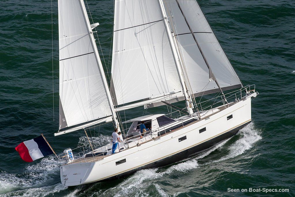 Amel 55 specifications and details on Boat-Specs com | Blue water