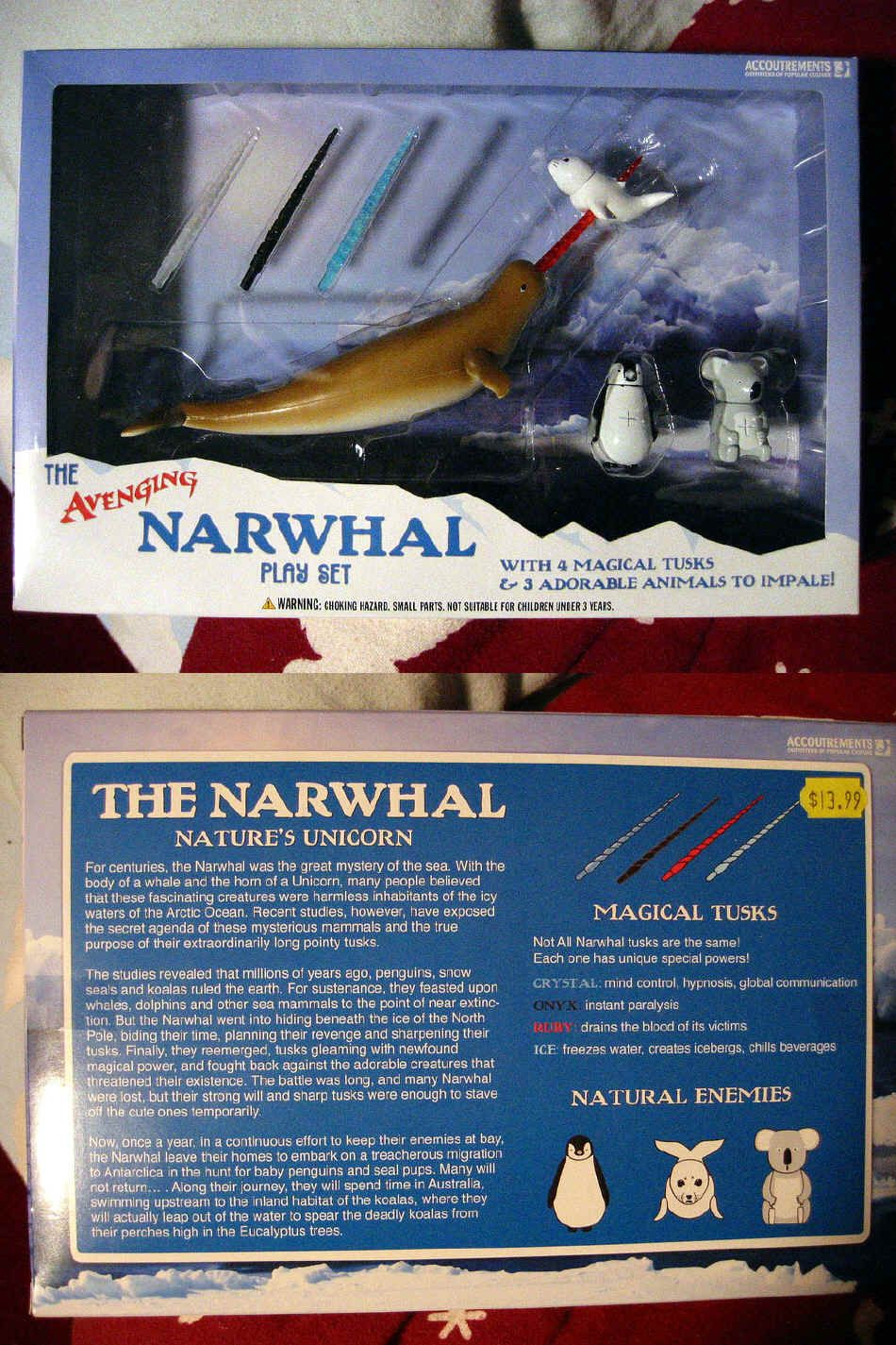 Avenging Narwhal Playset At Rebecca Butcher Please Send This To Your