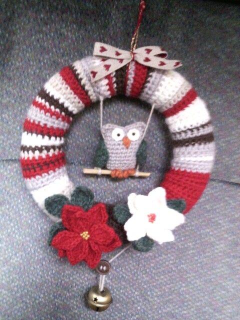 Ghirlanda Natalizia All Uncinetto Ajtódísz Christmas Ornaments
