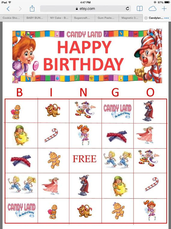 Candyland Bingo by YummiliciousTreats on Etsy, $500 Kylee\u0027s