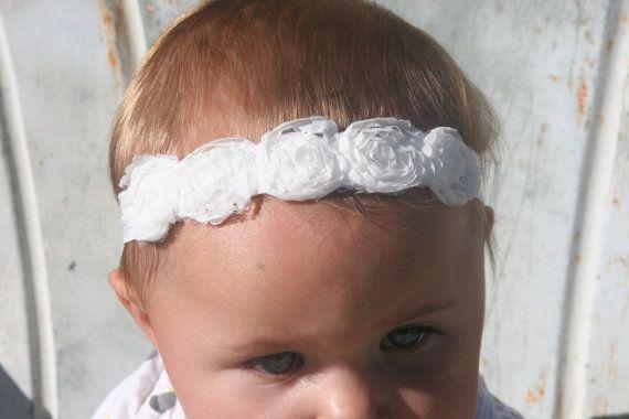 15% OFF, Baby Headbands, Baby Girl Flower Headband, Baby Bows Headband, Infant Headband, Baby Bow, Photo Prop, Girl Headband, Chiffon via Etsy