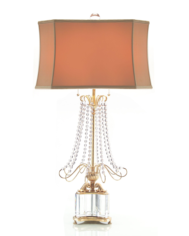 John Richard Beaded Elegance Lamp With Draped Crystal Beads And