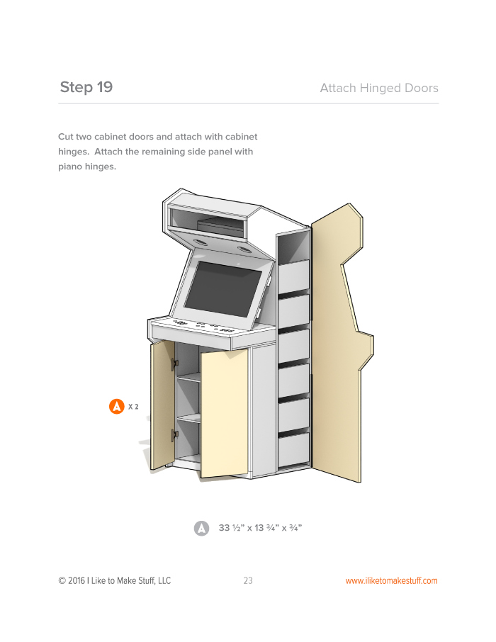 Arcade Cabinet - Digital Plans | Diy arcade cabinet ...