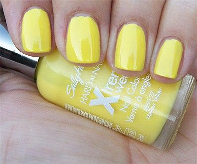 Sally Hansen Hard As Nails Xtreme Wear In Mellow Yellow Looks