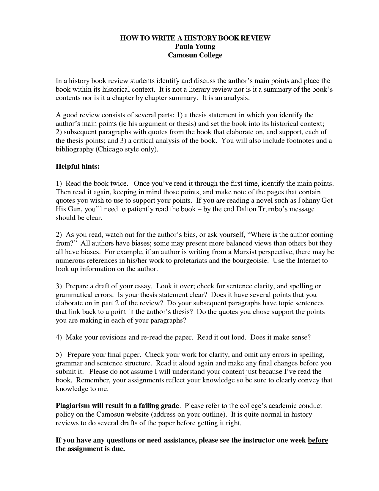 history research paper mla format the purdue university online writing lab serves writers from around - Example Of Book Review Essay