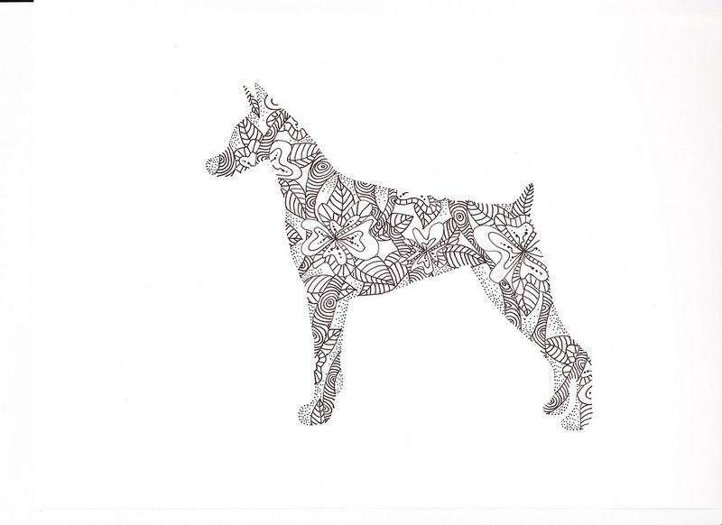Doberman Coloring Pages Doberman Coloring Pages Dogs