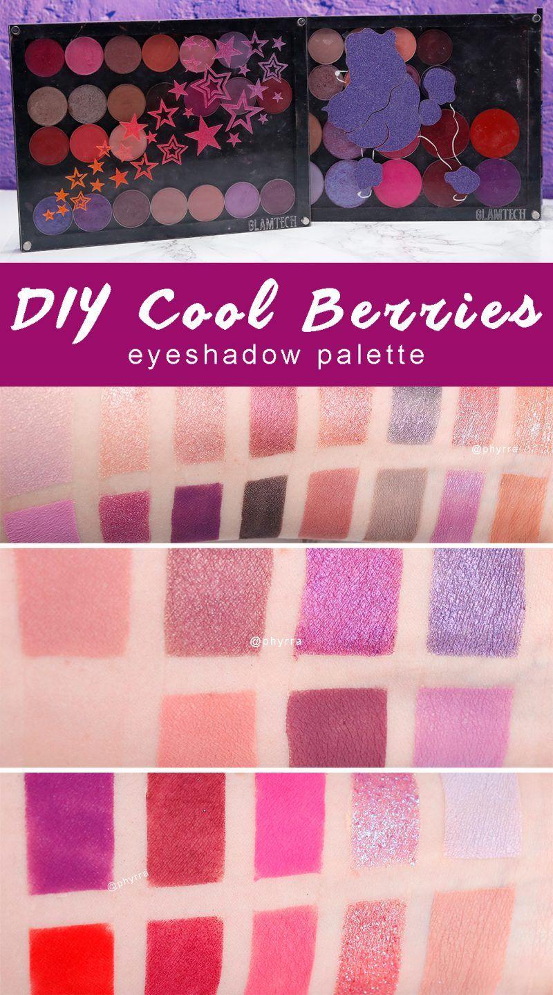 Diy cool berries eyeshadow palette tired of warm