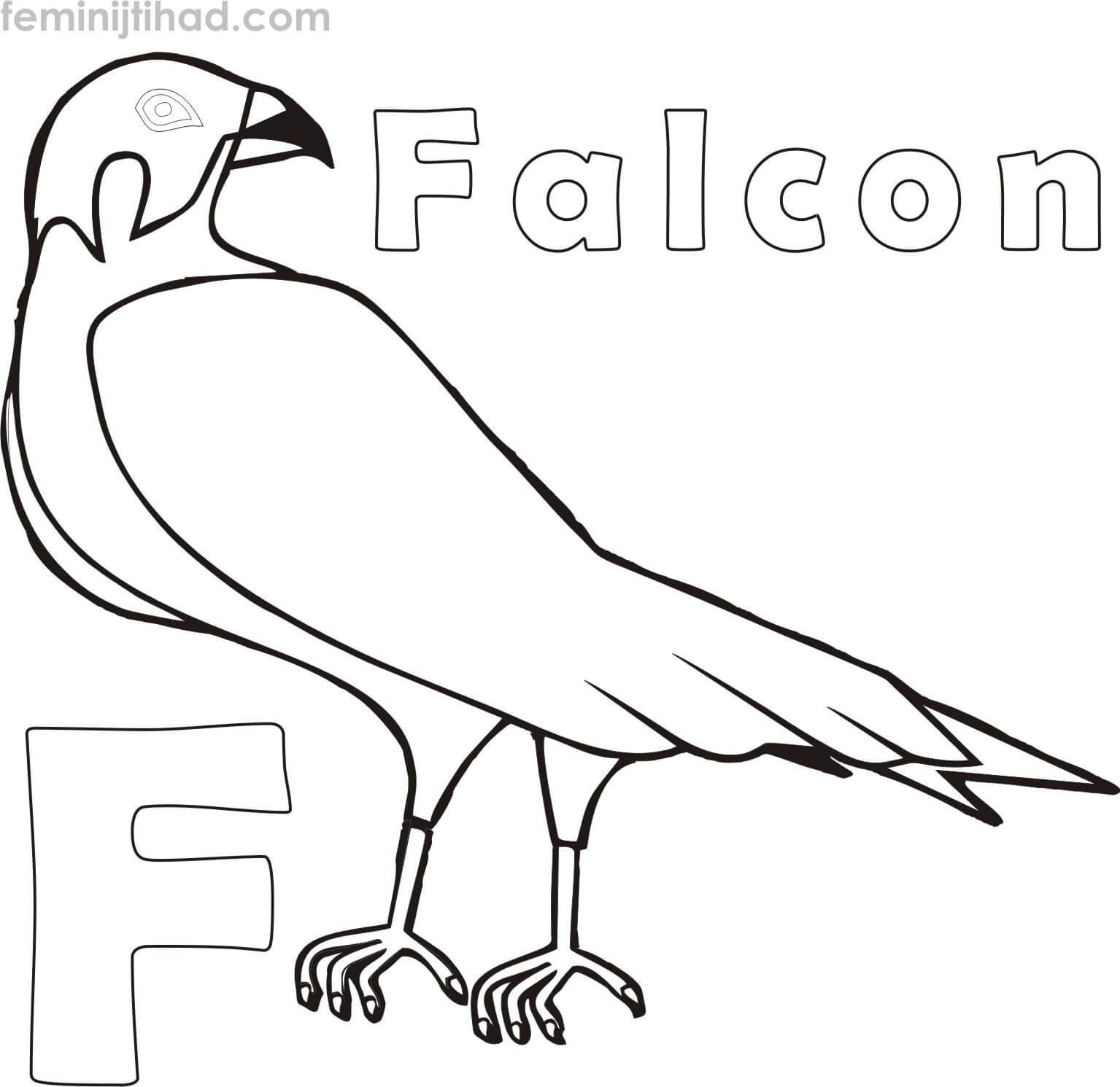 F For Falcon Coloring Pages To Print