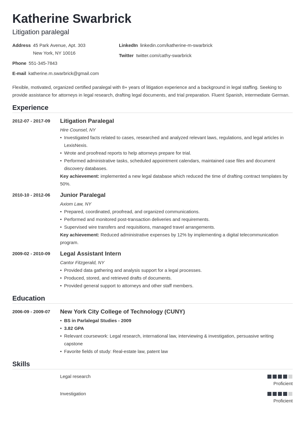 Paralegal Resume Example Template Nanica Resume Examples Job Resume Examples Paralegal