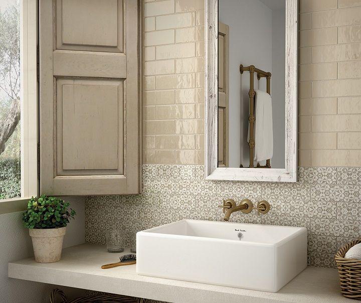 Country Vision 5x16 Caramel Wall Tile Shabby Chic Bathroom Bathroom Interior Design Bathroom Design