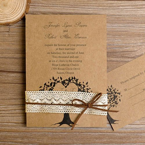 Cheap Country Wedding Invitations: Cheap And Rustic Wedding Invitations As Low As $0.94