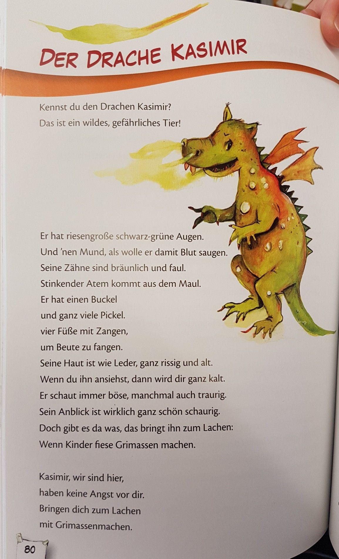 Der drache kasimir krippe gedicht kita kindergarten for Angebote kindergarten herbst