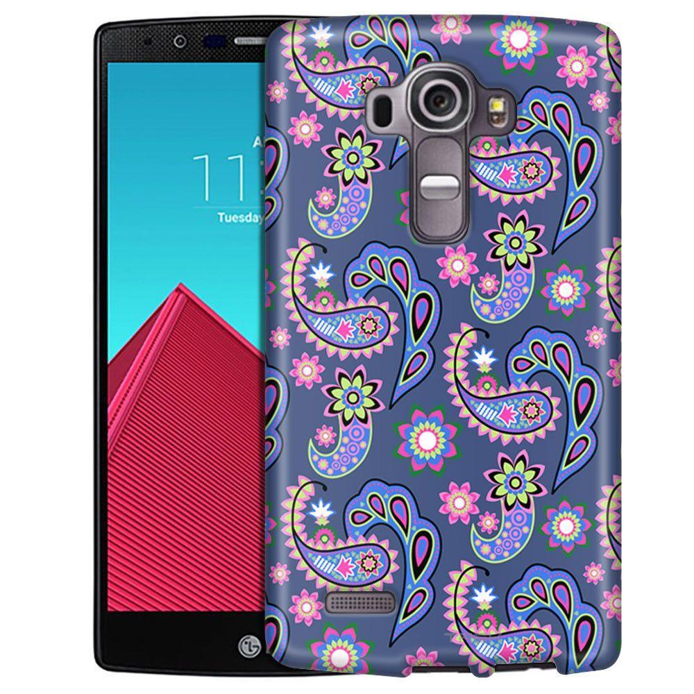 LG G4 Paisley Pastel on Cyan Blue Slim Case