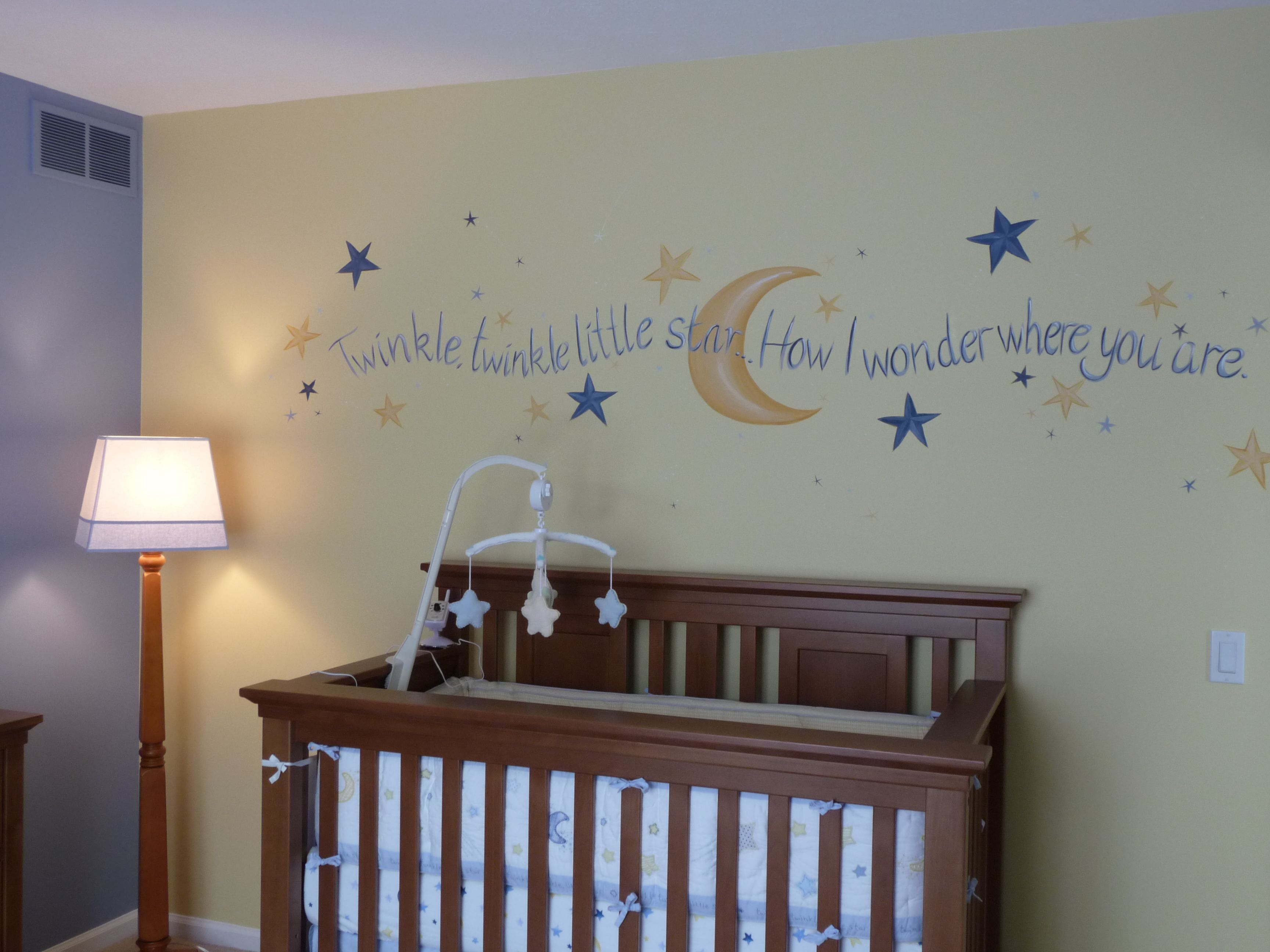 Twinkle, Twinkle little star and moon nursery. Stars