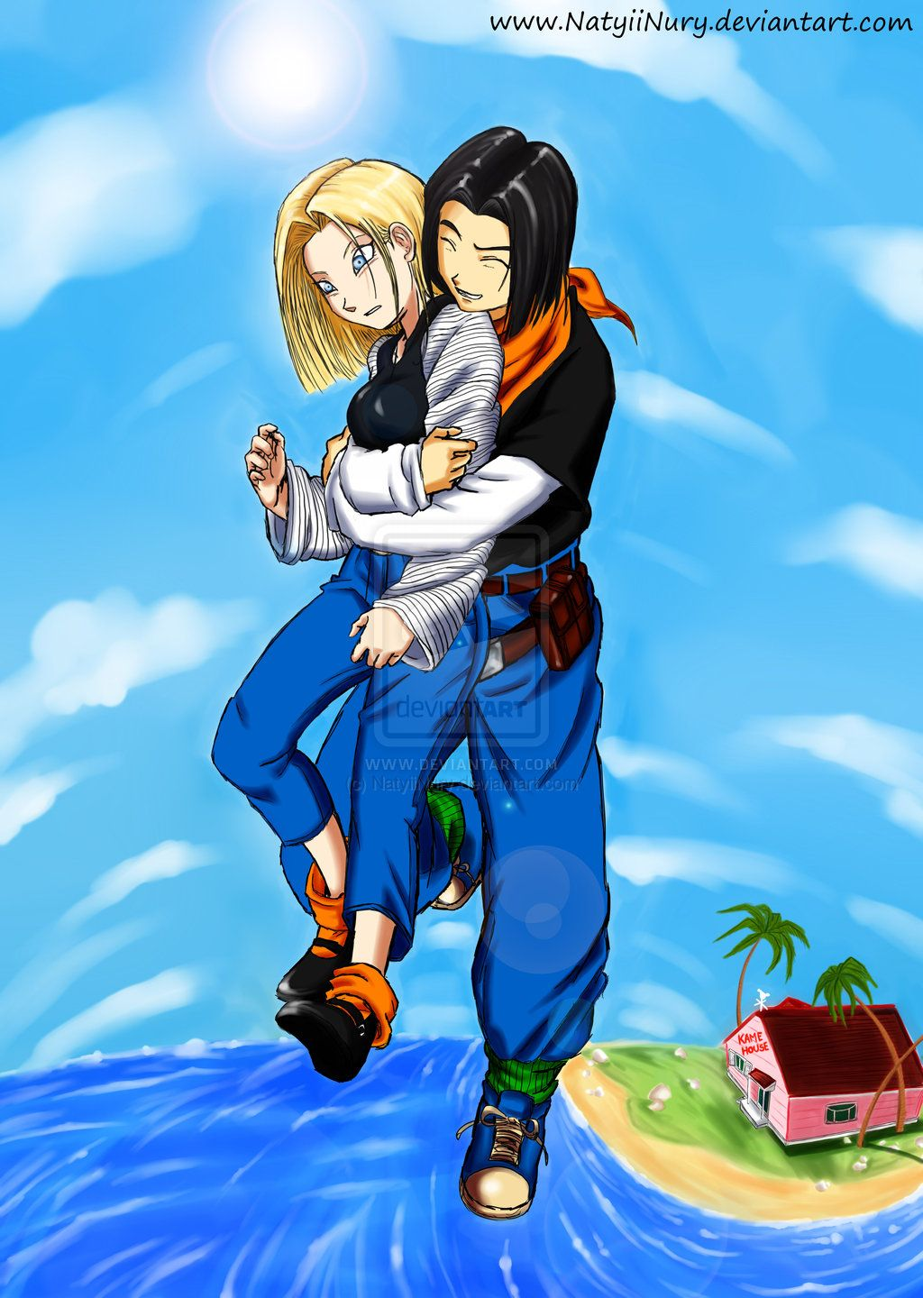 Android 18 and 17 ♥ by NatyiiNury.deviantart.com | DBZ ...