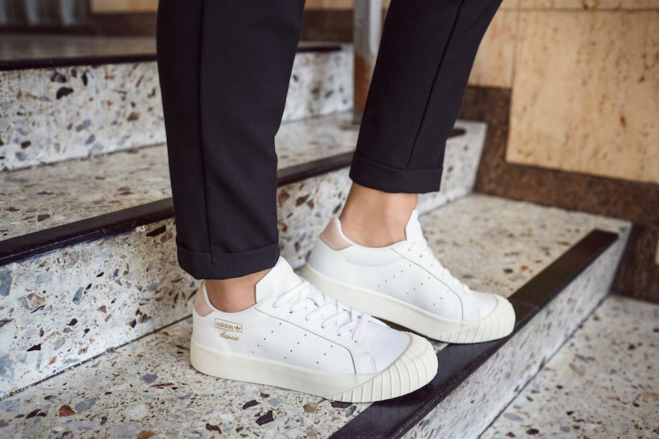 dc33b33599 adidas Fuses Classic Styles With Women Exclusive Everyn Sneaker ...