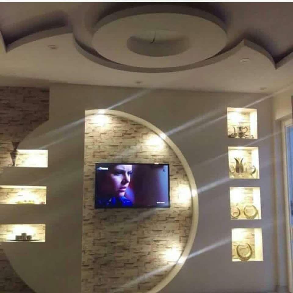 Gypsum Board TV Units Vs Wood TV Units (30 Designs