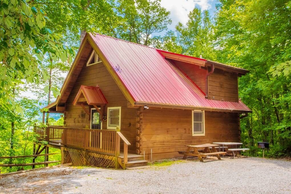 Secluded View 2 Bedroom Cabin Rental In 2020 Cabin Cabin Rentals House Styles