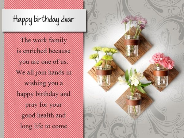 Work anniversary wishes to colleague ~ Birthday pictures for colleague happy birthday wishes pinterest