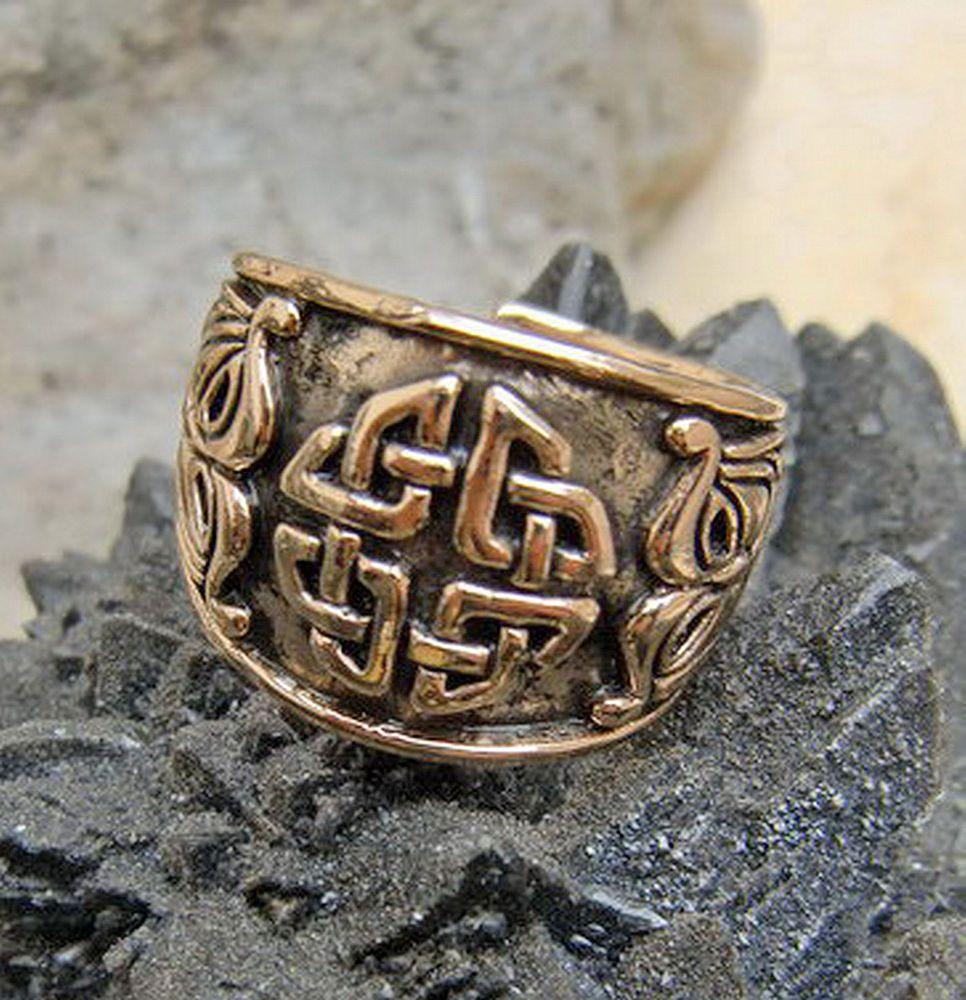 Details zu massiv Bronzering Kelten Vierfacher Knoten Mittelalter Gr ...