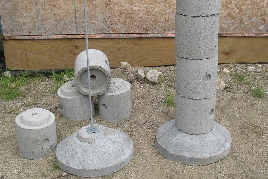 Compare Square Foot Plastic Concrete Footing Forms To Conventional Methods Concrete Footings Deck Footings Building A Deck