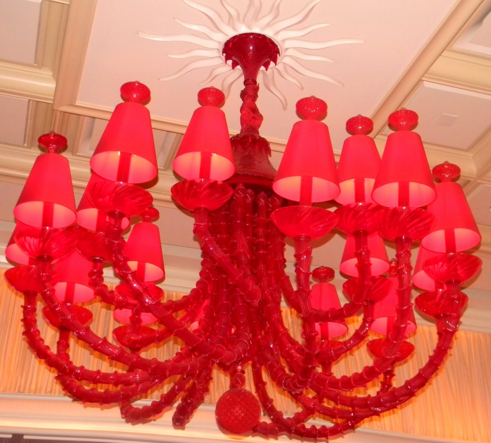 Red Chandelier at The Encore Las Vegas Seeing Red