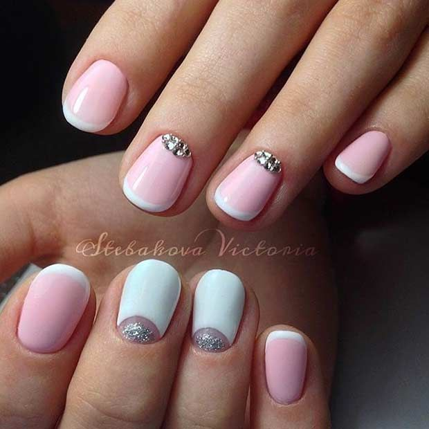 Pink and White French Tip Design for Short Nails - 31 Cool French Tip Nail Designs Pinterest Short Nails, Nail Nail