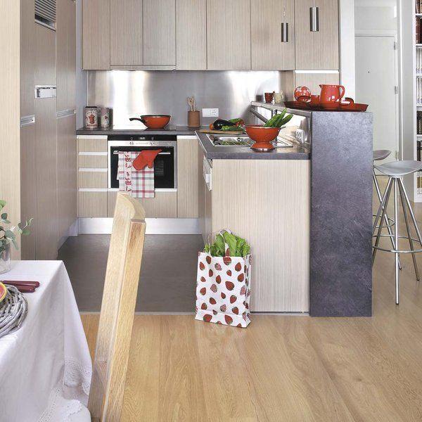 Cocina integrada al salón | Tabique, El comedor y La solucion