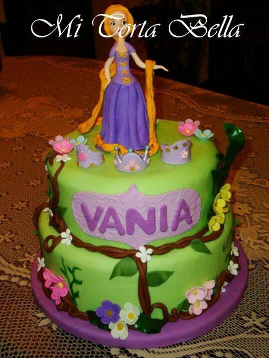 Torta fantasía de Rapunzel