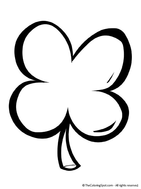 4 Leaf Clover Printable Clover Leaf Coloring Pages