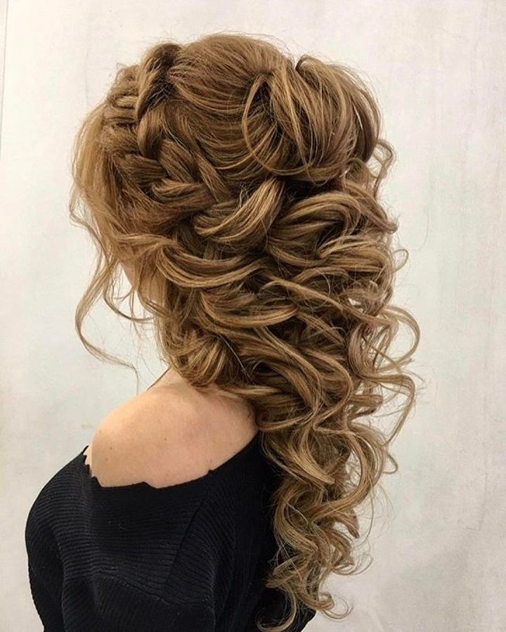 Beautiful Wedding Hairstyle For Long Hair Perfect For Any: This Bridal Braided With Half Up Half Down Hairstyle