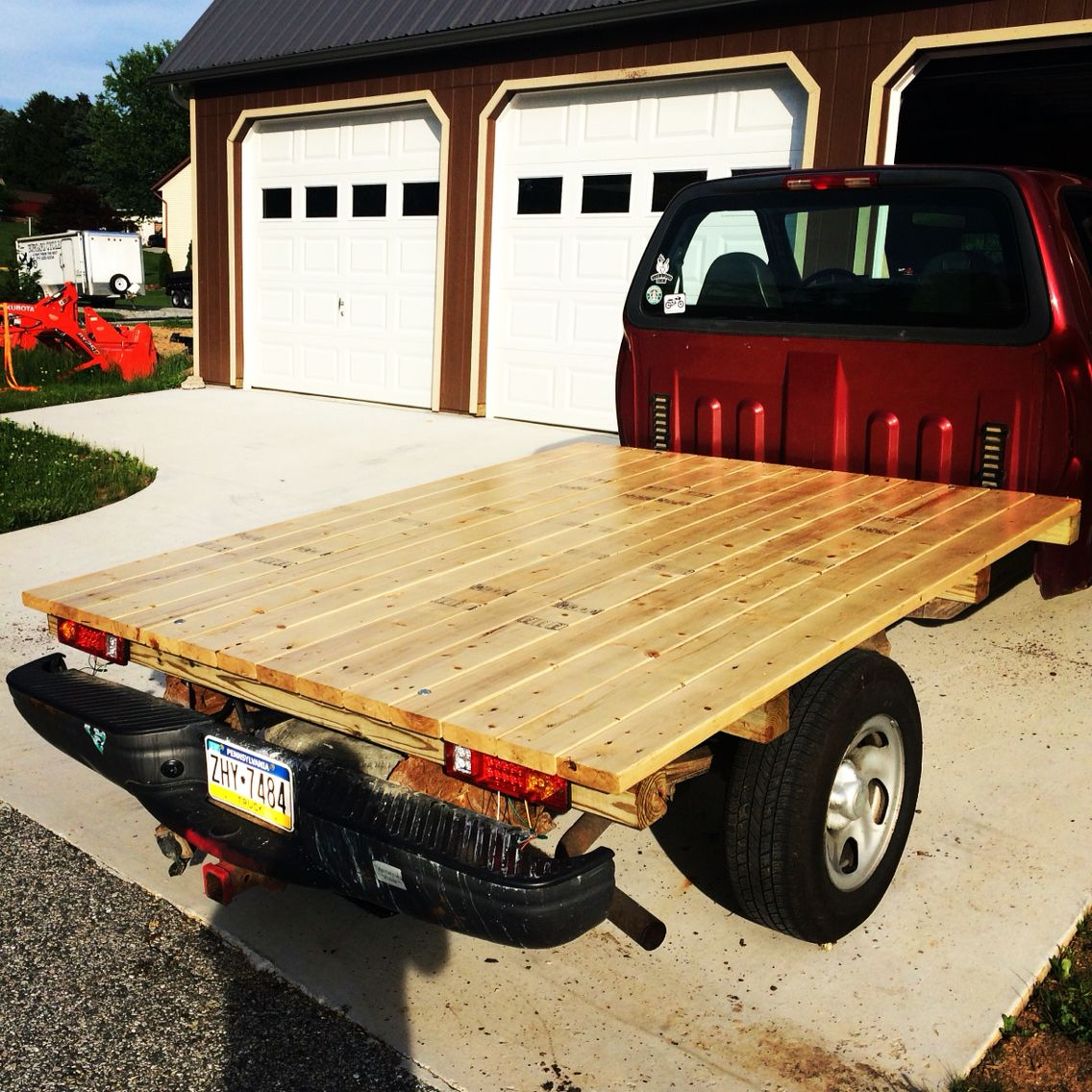 03 F150 Diy Flatbed 4x4 Supports 2x6 Deck Boards Its Been A Game