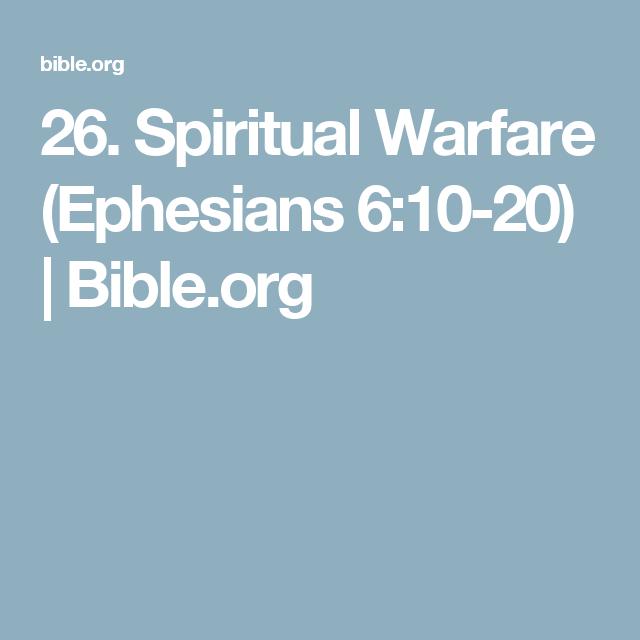 26. Spiritual Warfare (Ephesians 6:10-20)