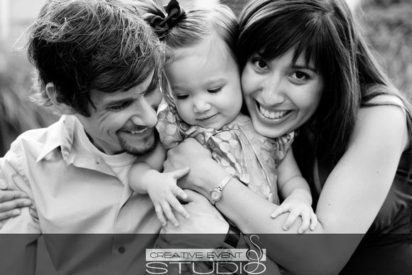 Family Portrait - Session - Toddler - Black and White  www.creativeeventstudio.com