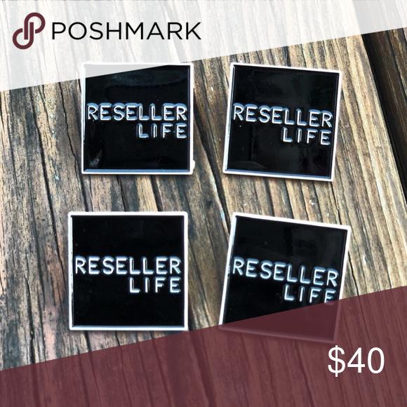 RESELLER LIFE Set of 4 Custom Lapel Pins Custom designed by me