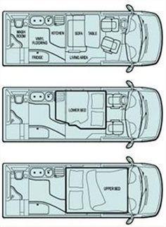 Резултат с изображение за campervan layout ideas   кемпери   Pinterest