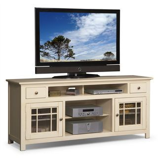 Merrick White 74 Tv Stand Value City Furniture Bar Basement