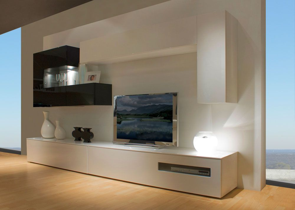 Muebles de salon dise o moderno buscar con google for Muebles salon lacados blanco brillo
