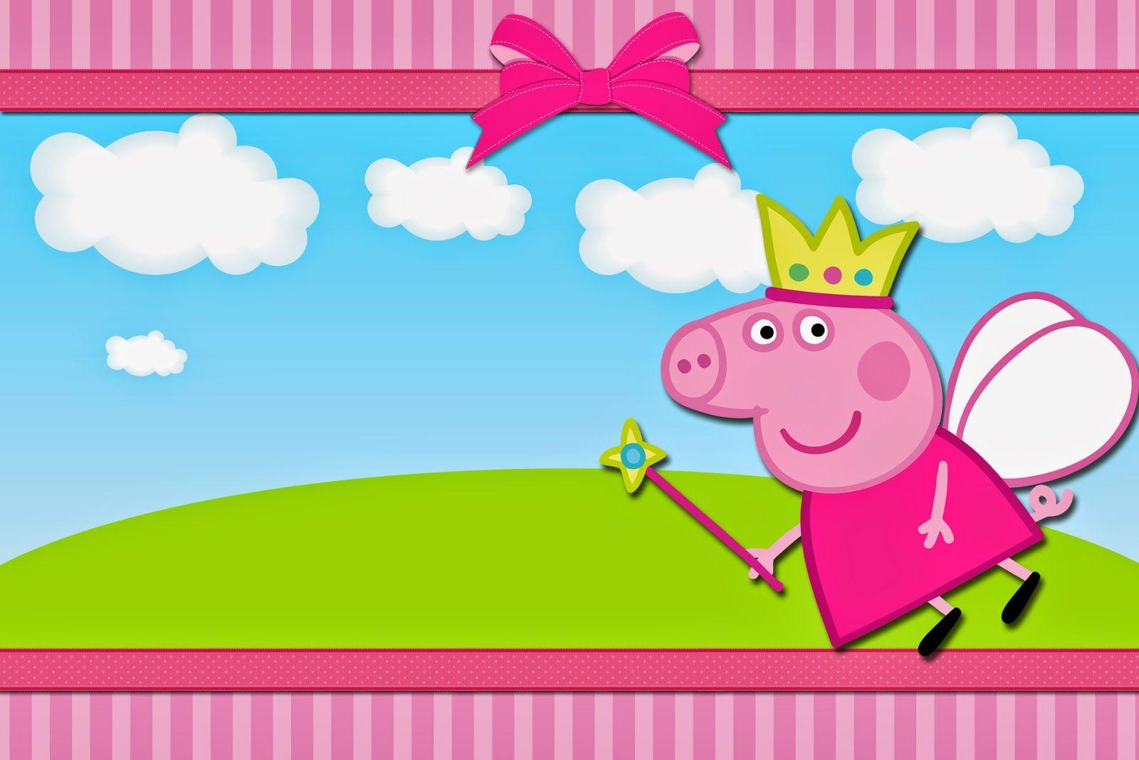 Convites grátis para festa da Peppa Pig | Peppa pig printables