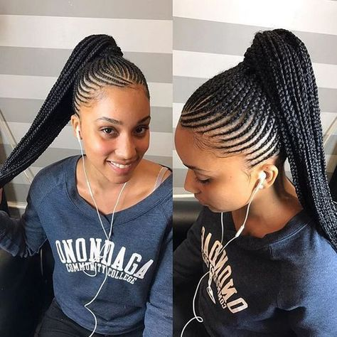 Personally When I Go To The Beach I Like To Get All Of My Hair Out Of Face And Off My Neck Cornrow Hairstyles Braided Ponytail Hairstyles Braided Hairstyles