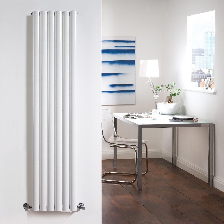 Revive - White Vertical Single-Panel Designer Radiator - 63\