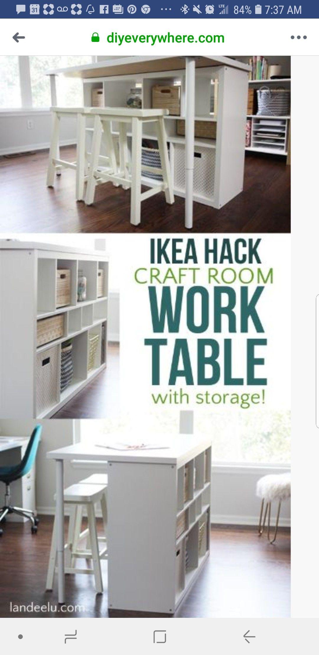 Worktable Craft Room Tables Craft Room Design Ikea Crafts