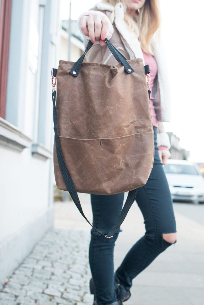 "Photo of Kostenloses Schnittmuster: Tasche ""Nine"" 