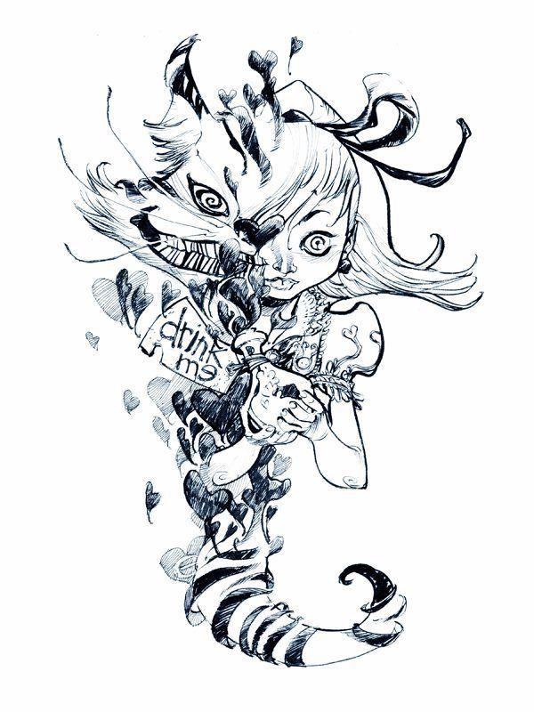 Yes Drink Up Wonderland Tattoo Alice And Wonderland Tattoos