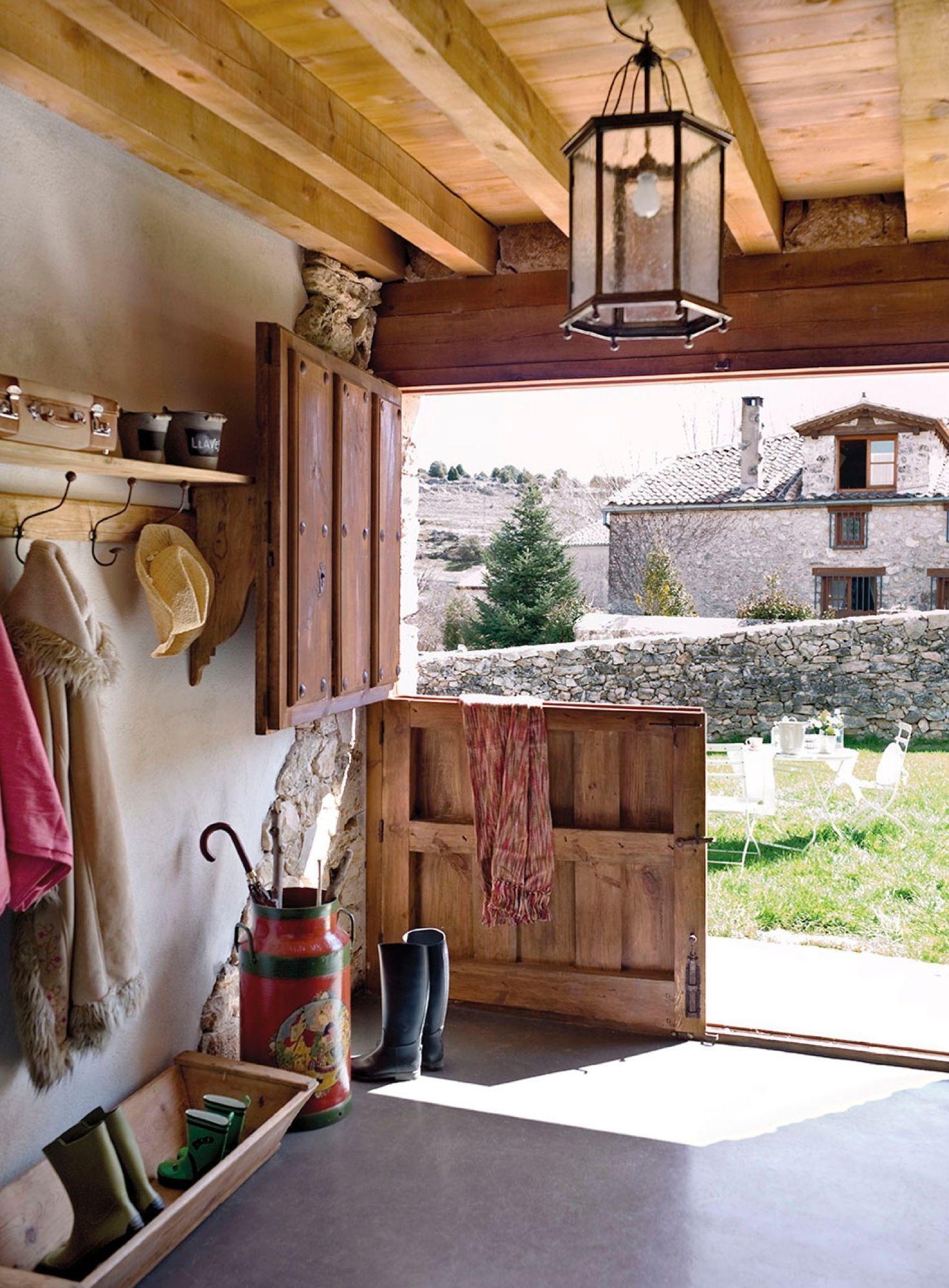 12 recibidores r sticos decorados recibo pinterest - Entradas de casas rusticas ...